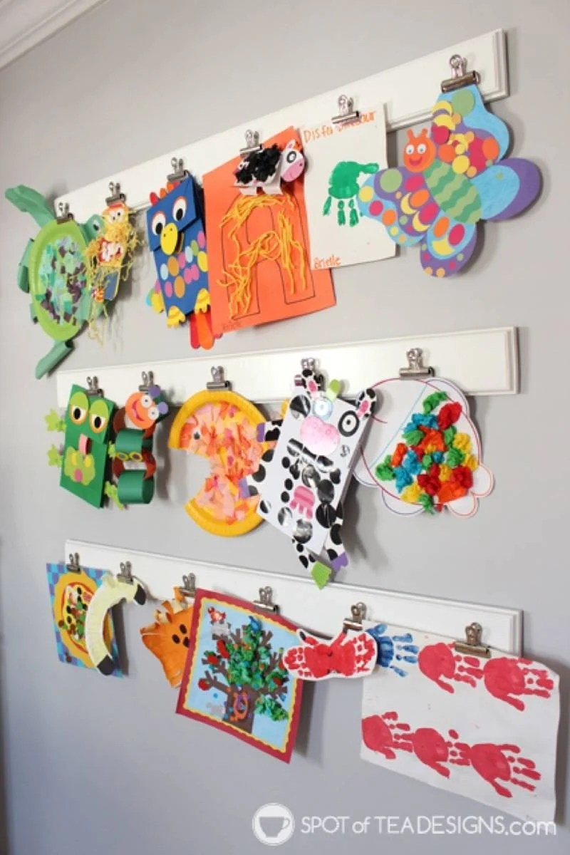 Wall art idea from Spot of Tea Designs | 75 DIY Kids Decor Ideas