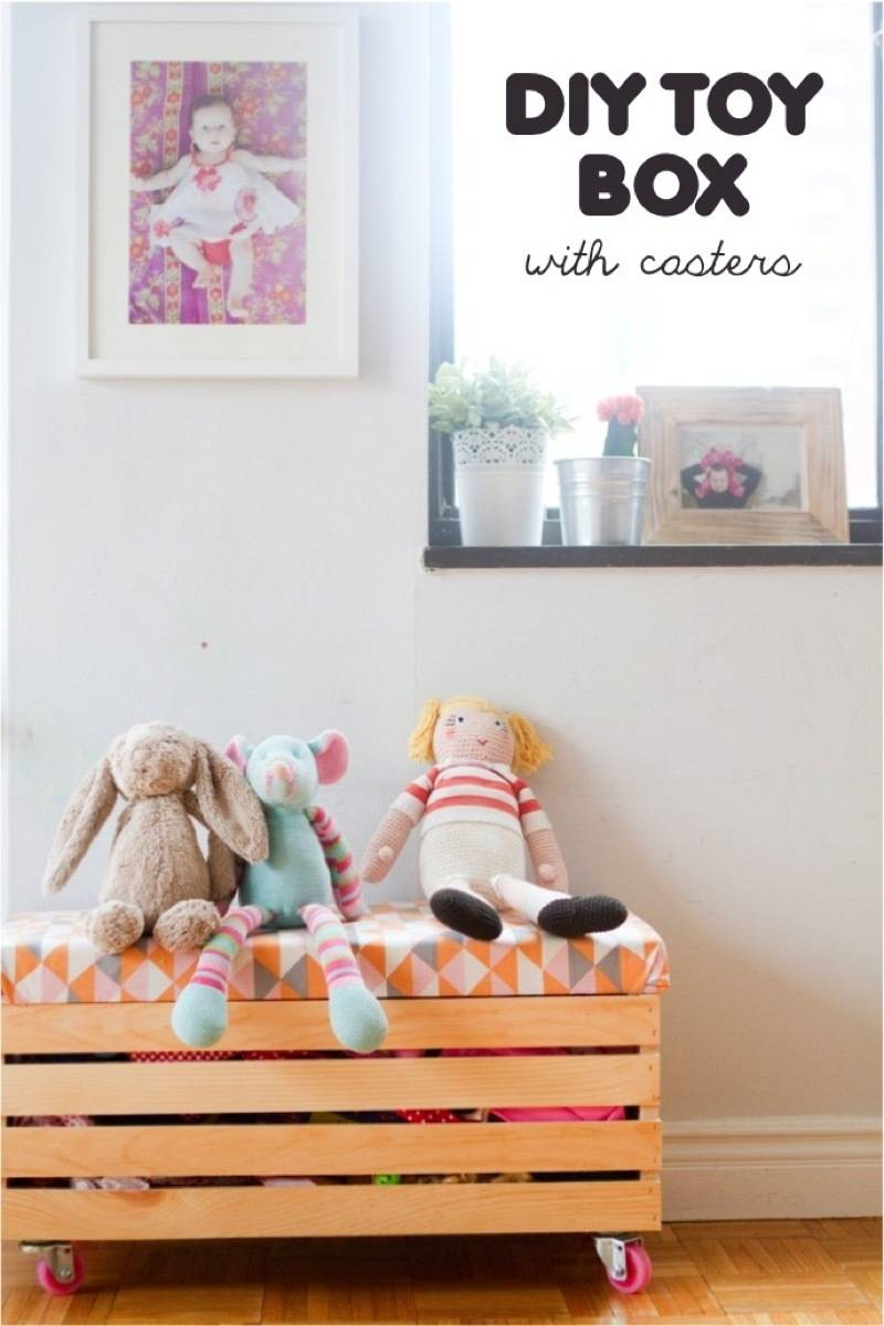 Storage solution This Little Street | 75 DIY Kids Decor Ideas