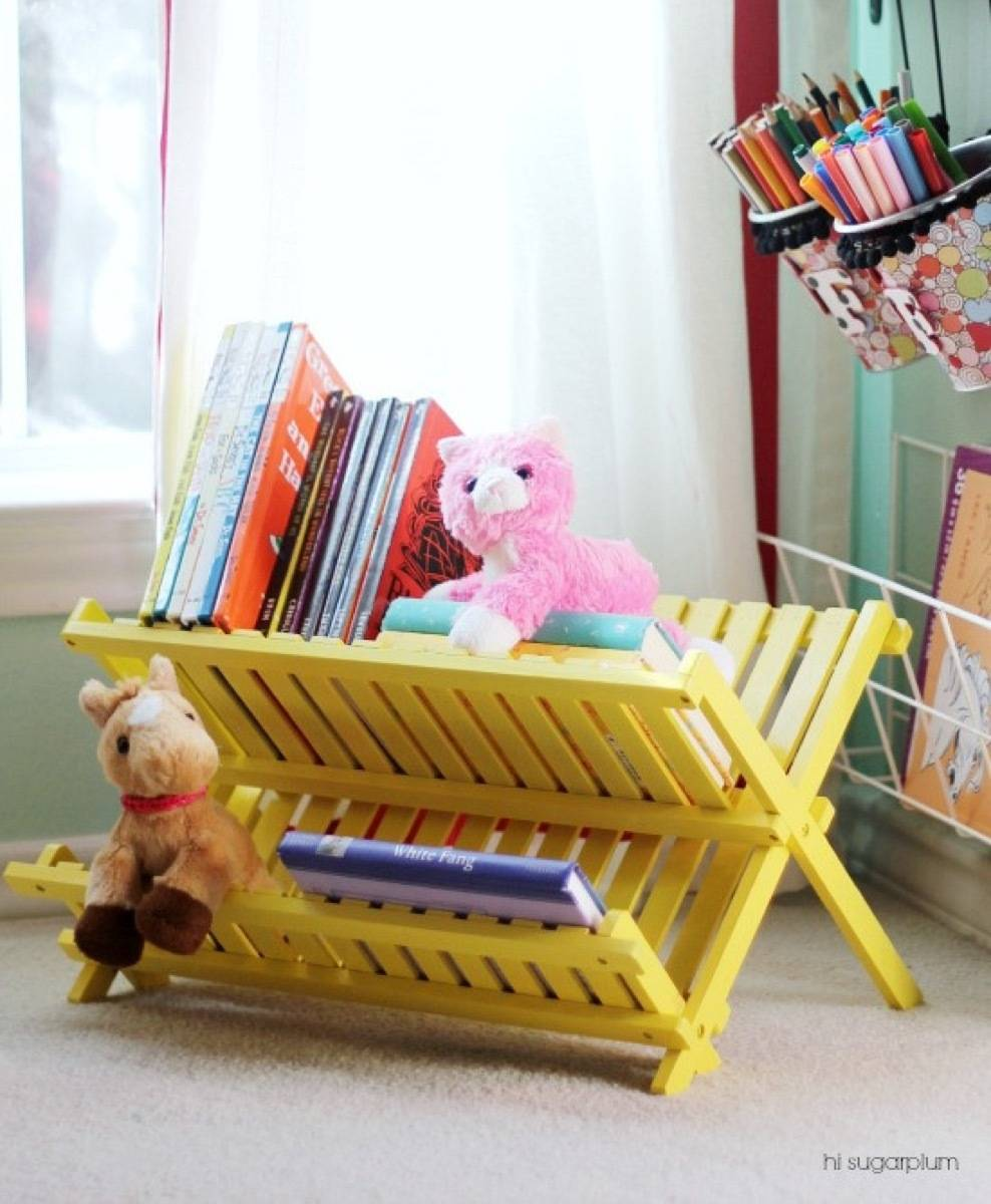 Storage solution from I Heart Organizing | 75 DIY Kids Decor Ideas