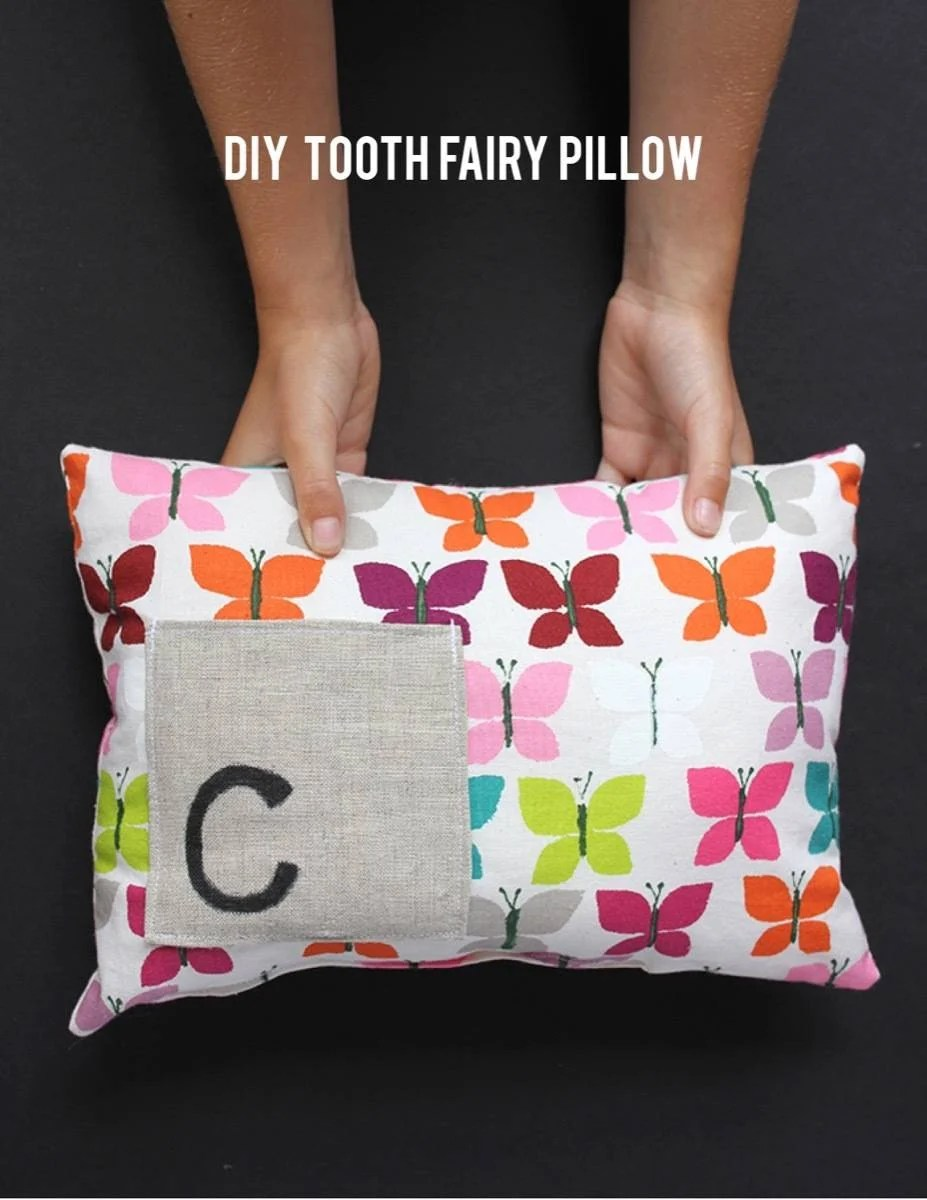 Fun pillow idea from Alice & Lois | 75 DIY Kids Decor Ideas