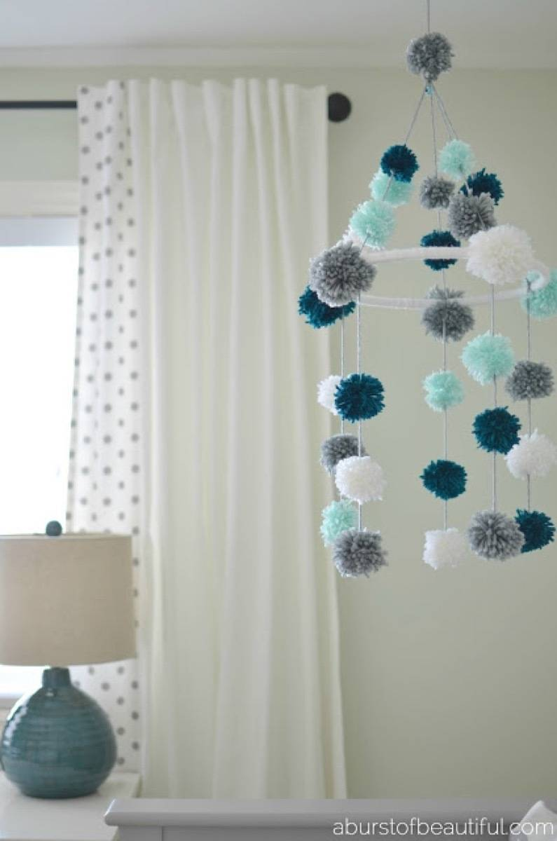 Baby's mobile idea from A Burst of Beautiful | 75 DIY Kids Decor Ideas