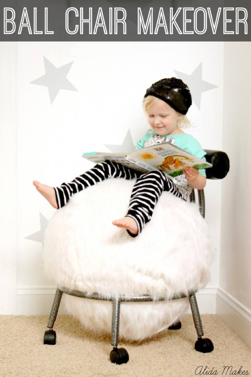 Chair makeover idea from Alida Makes | 75 DIY Kids Decor Ideas