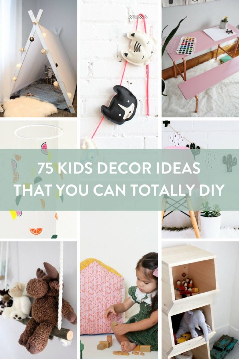 75 ways to decorate a kid's room - DIY style!