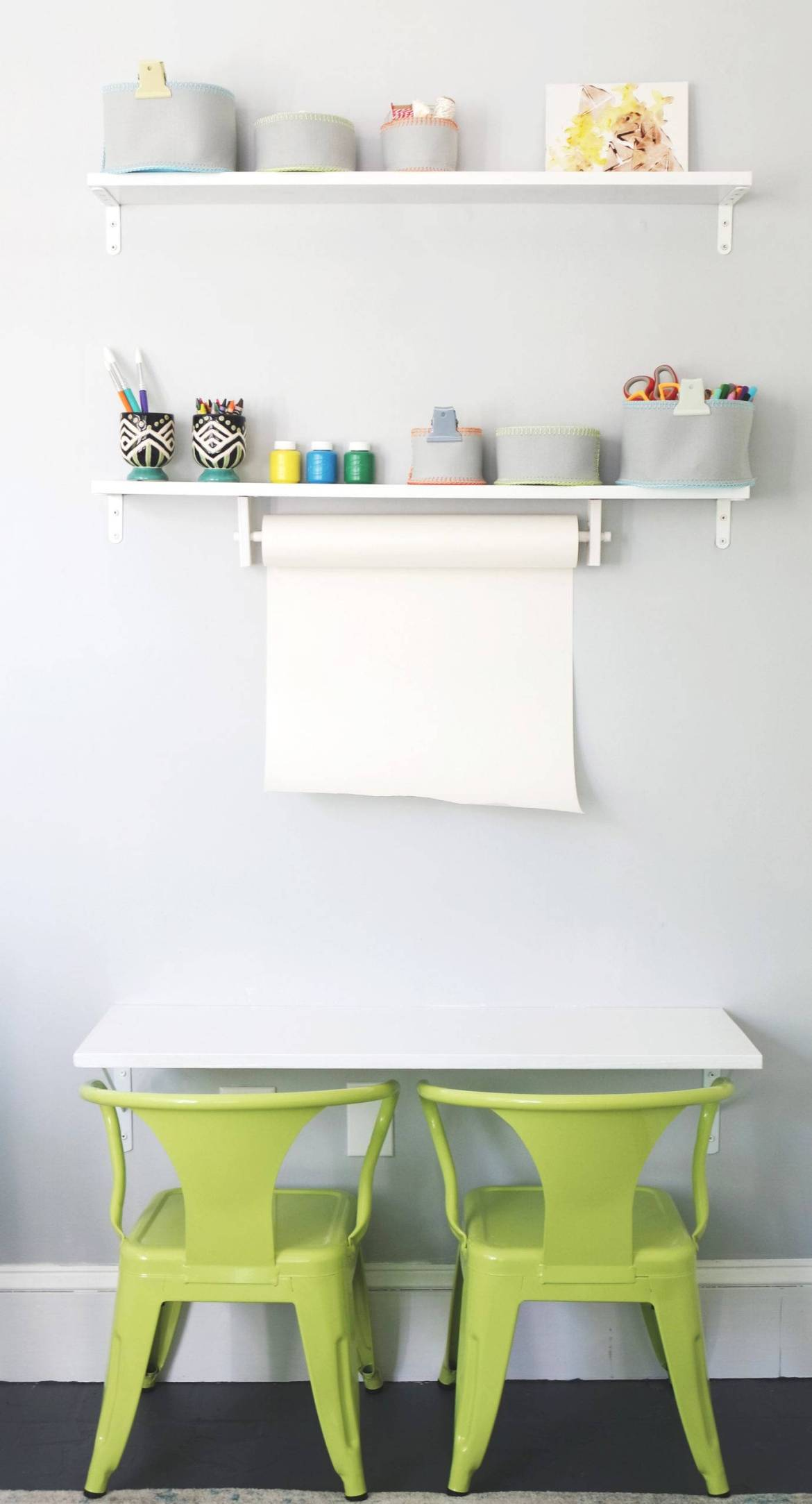 Playroom reveal - a desk for a little artist.