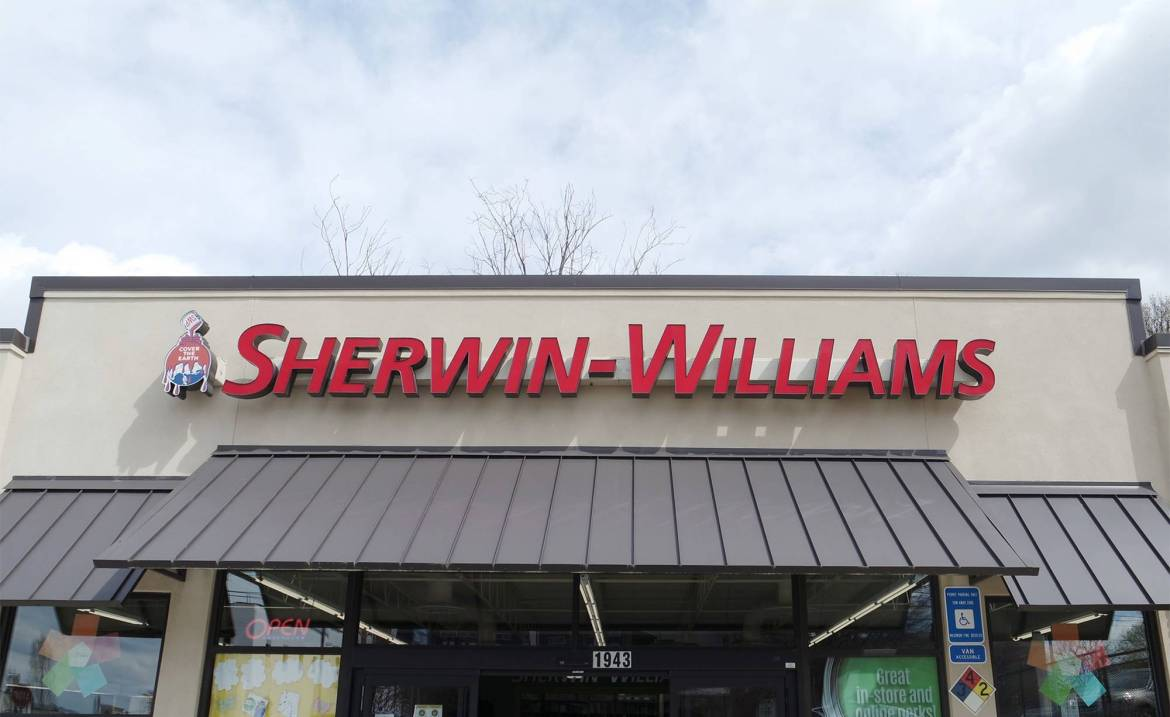We took a trip to our local Sherwin-Williams in Howell Mill to get started on this room makeover.