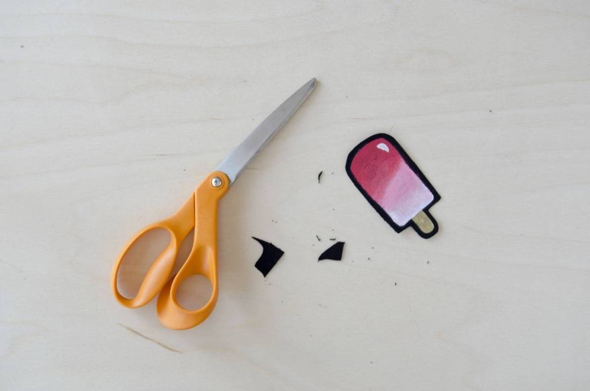 Popsicles Patch: Use paint to mimic the look of embroidered patches