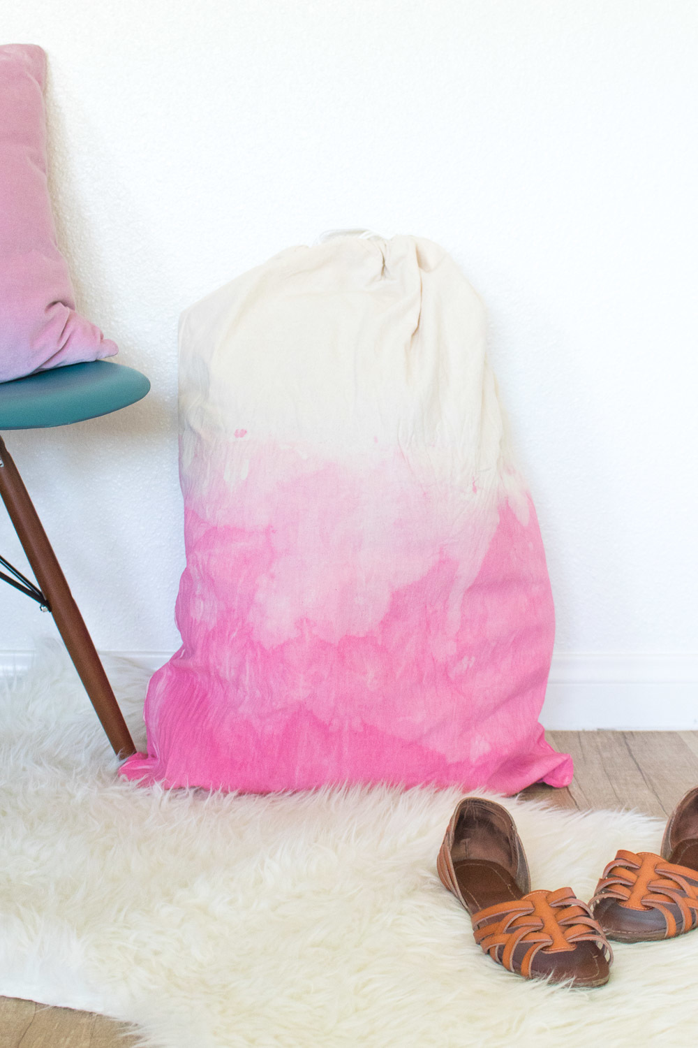 Go Back to School with a Dip-Dyed Ombre Laundry Bag