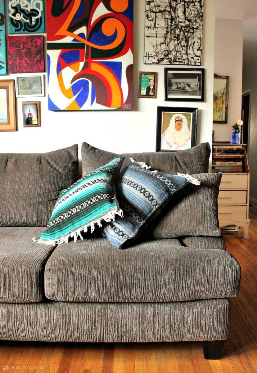 99 ways to use fabric to decorate your home   Serape pillows