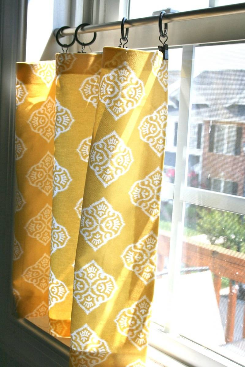 99 ways to use fabric to decorate your home   No-sew cafe curtains