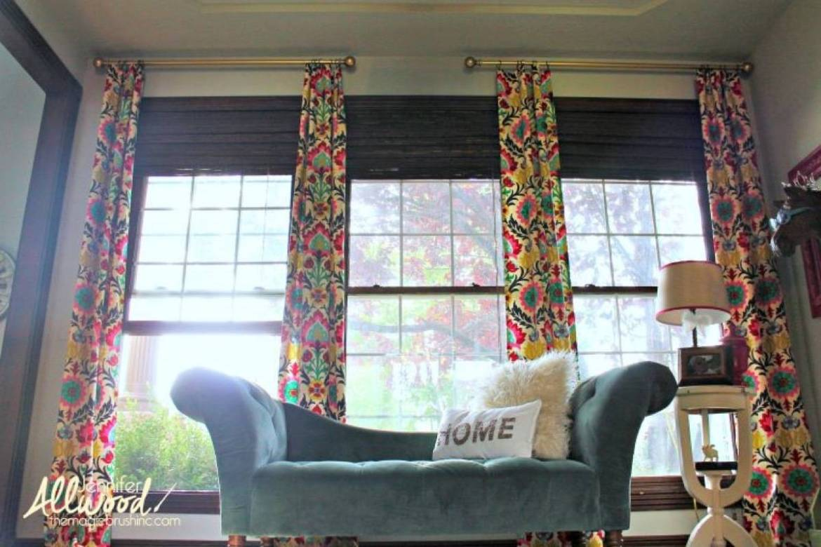 99 ways to use fabric to decorate your home   No-sew curtains