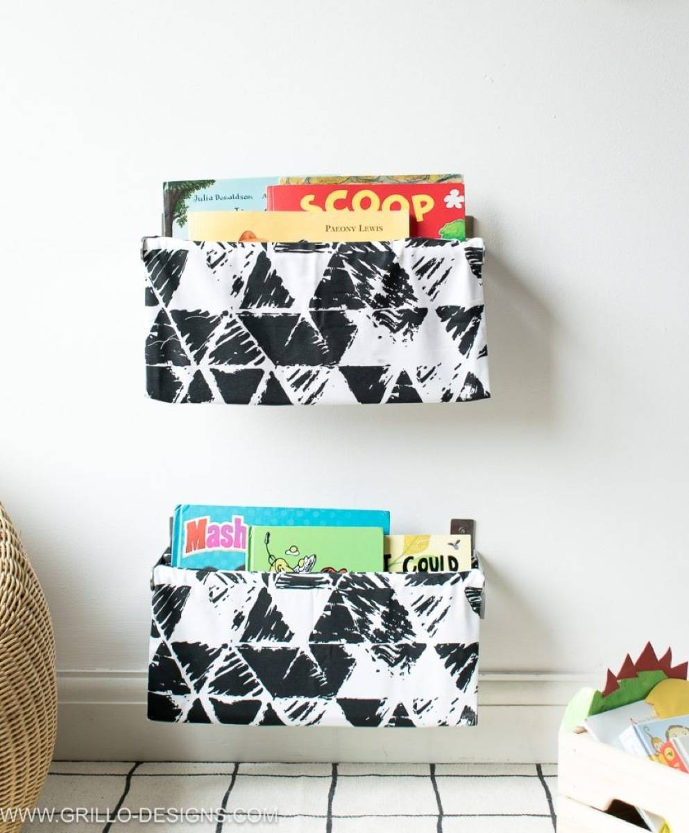 99 ways to use fabric to decorate your home   Fabric book slings