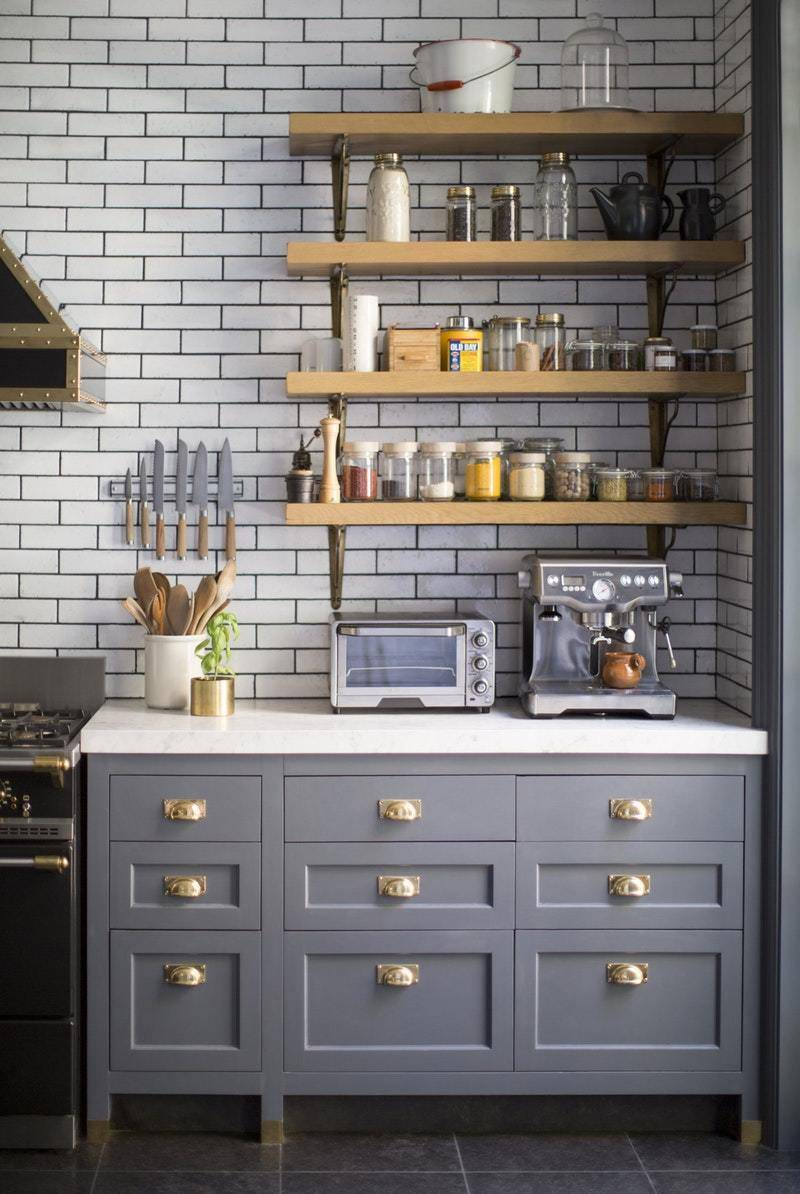 Curbly House Kitchen Inspiration - Gray Cabinetry