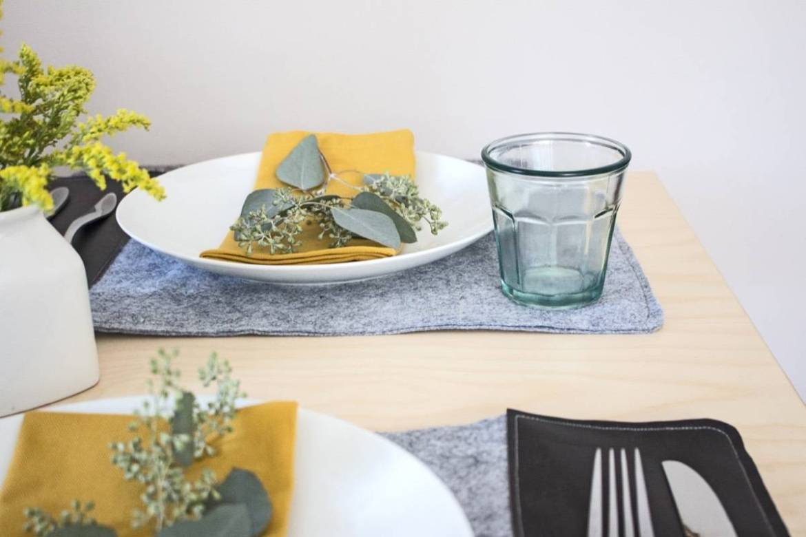 DIY These: Simple Felt Placemats