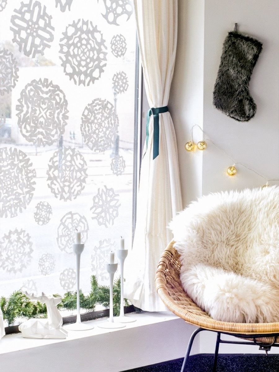DIY window decals - These aren't regular paper snowflakes!
