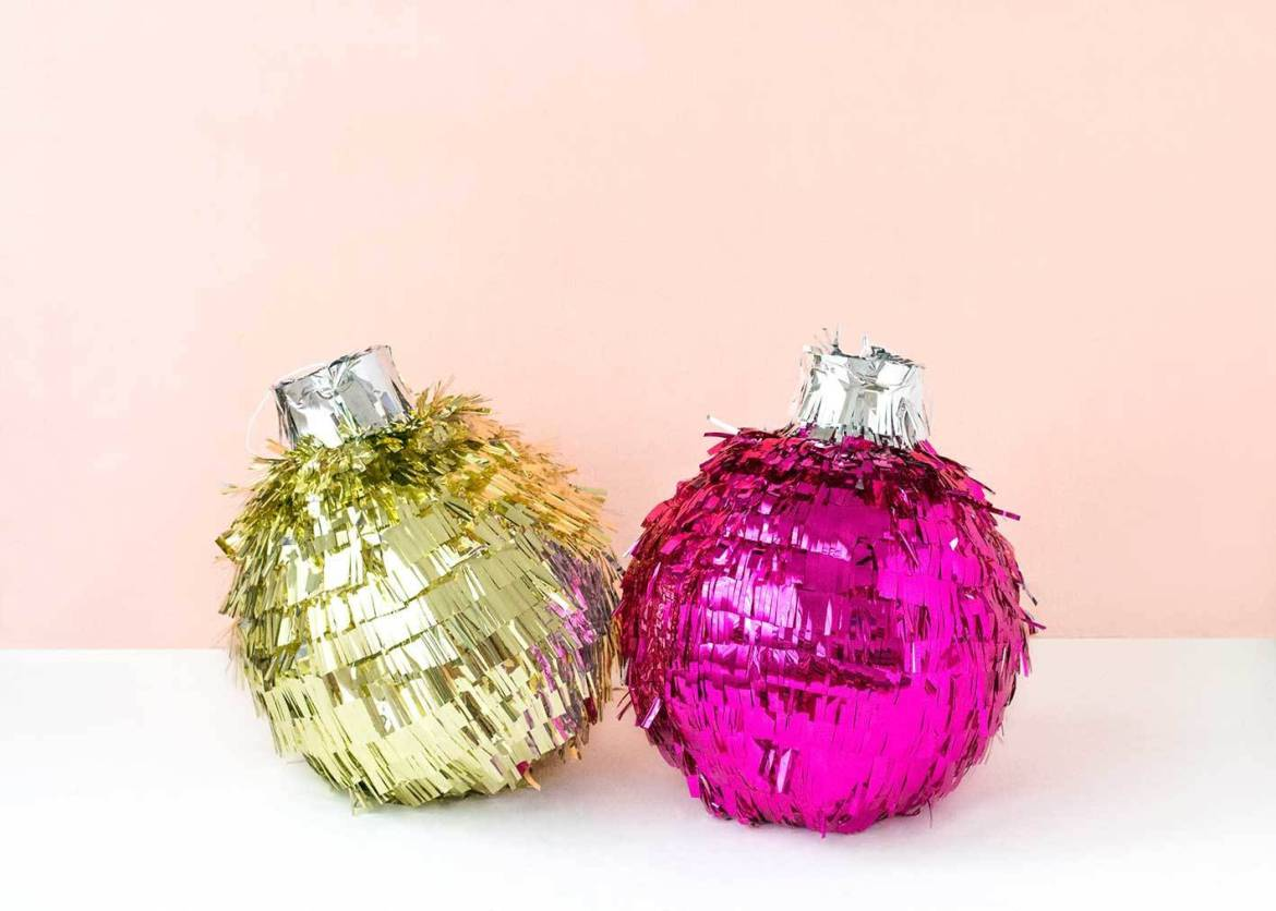 Get ready for Christmas with this festive bauble pinata!