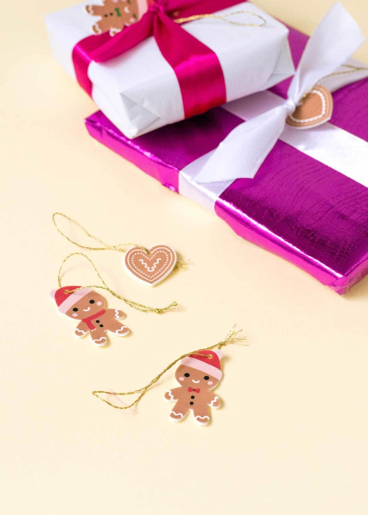 Make it: Festive gingerbread gift toppers that double as Christmas ornaments!