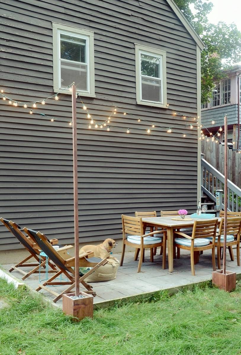 Curbly's Best DIY Projects of 2017: Outdoor Bistro Lights