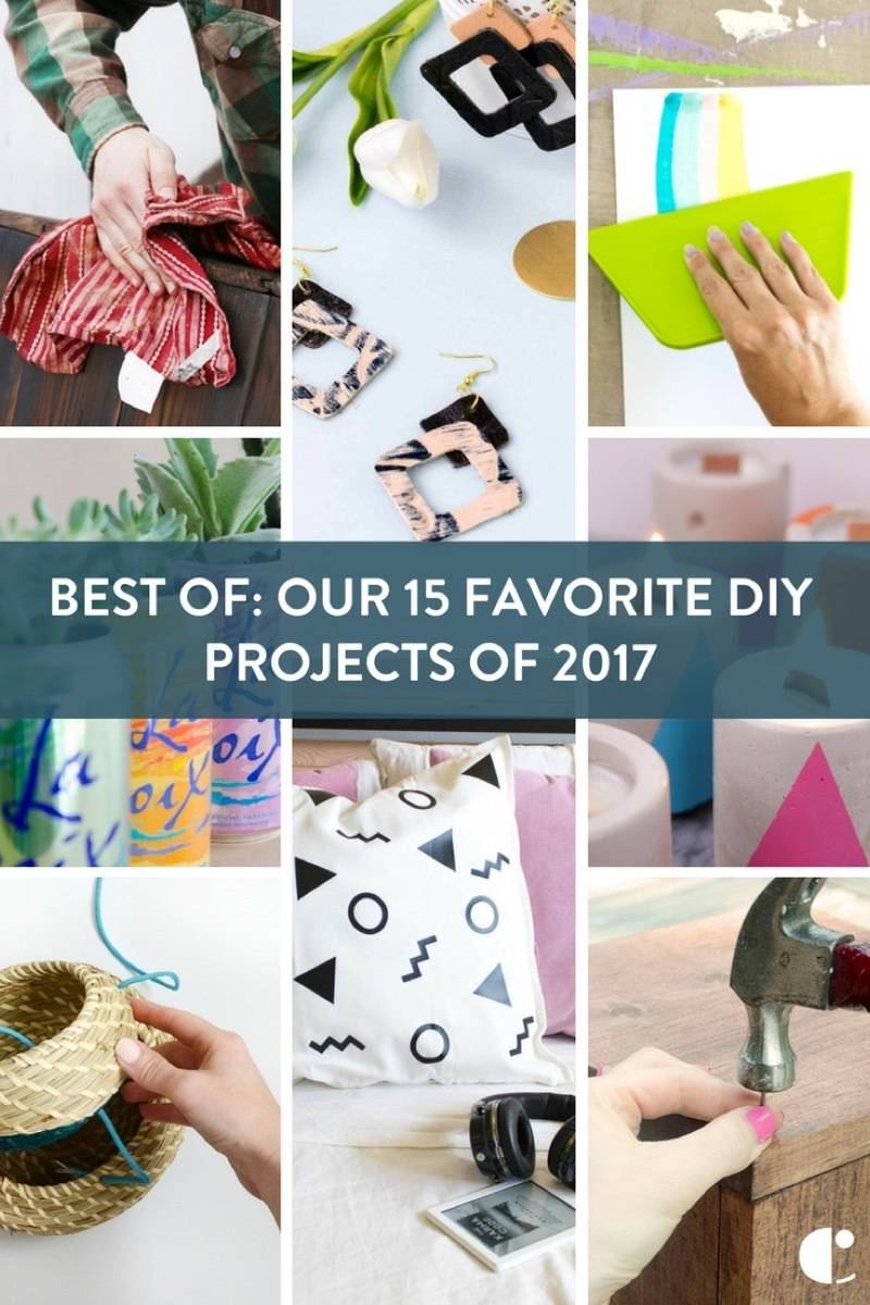 To note the end of another year, we're taking a look back at some of our favorite DIY projects to come out of 2017!