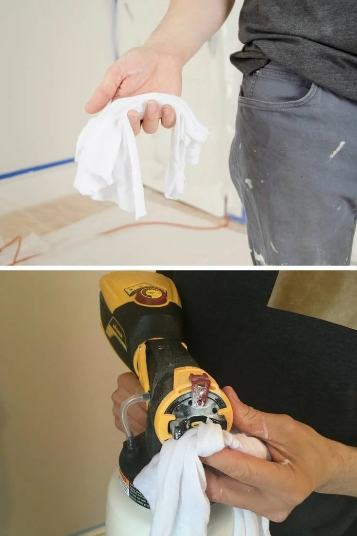 Paint Spraying Tip: Keep a Damp Cloth with You to Wipe the Tip of the Sprayer