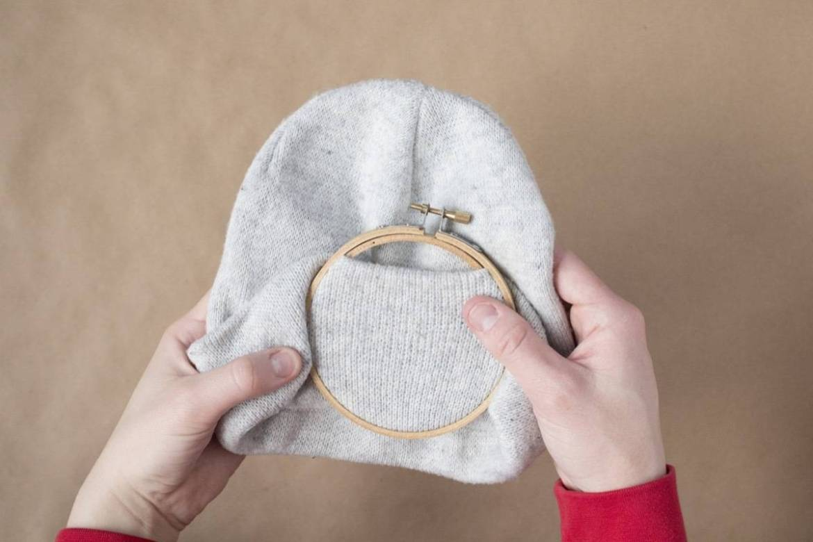 Embroidered Beanie: Step 1