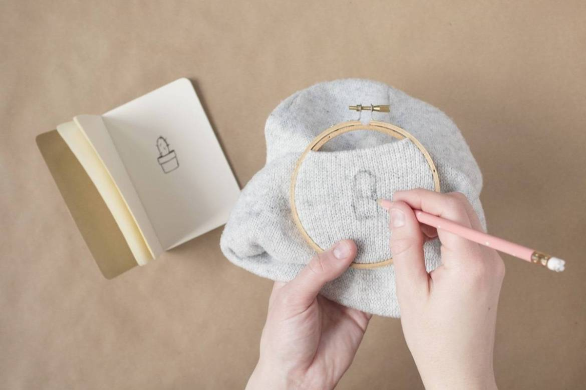 Embroidered Beanie: Step 2