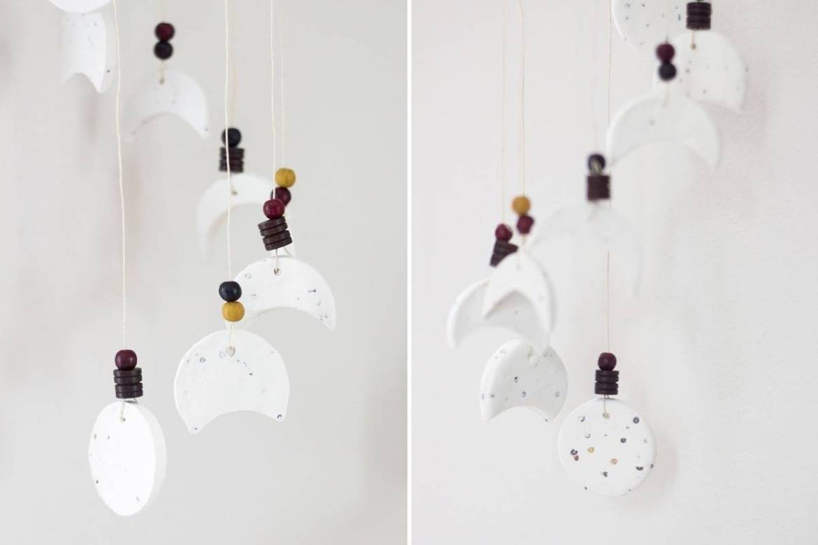 How to make a wind chime featuring the phases of the moon
