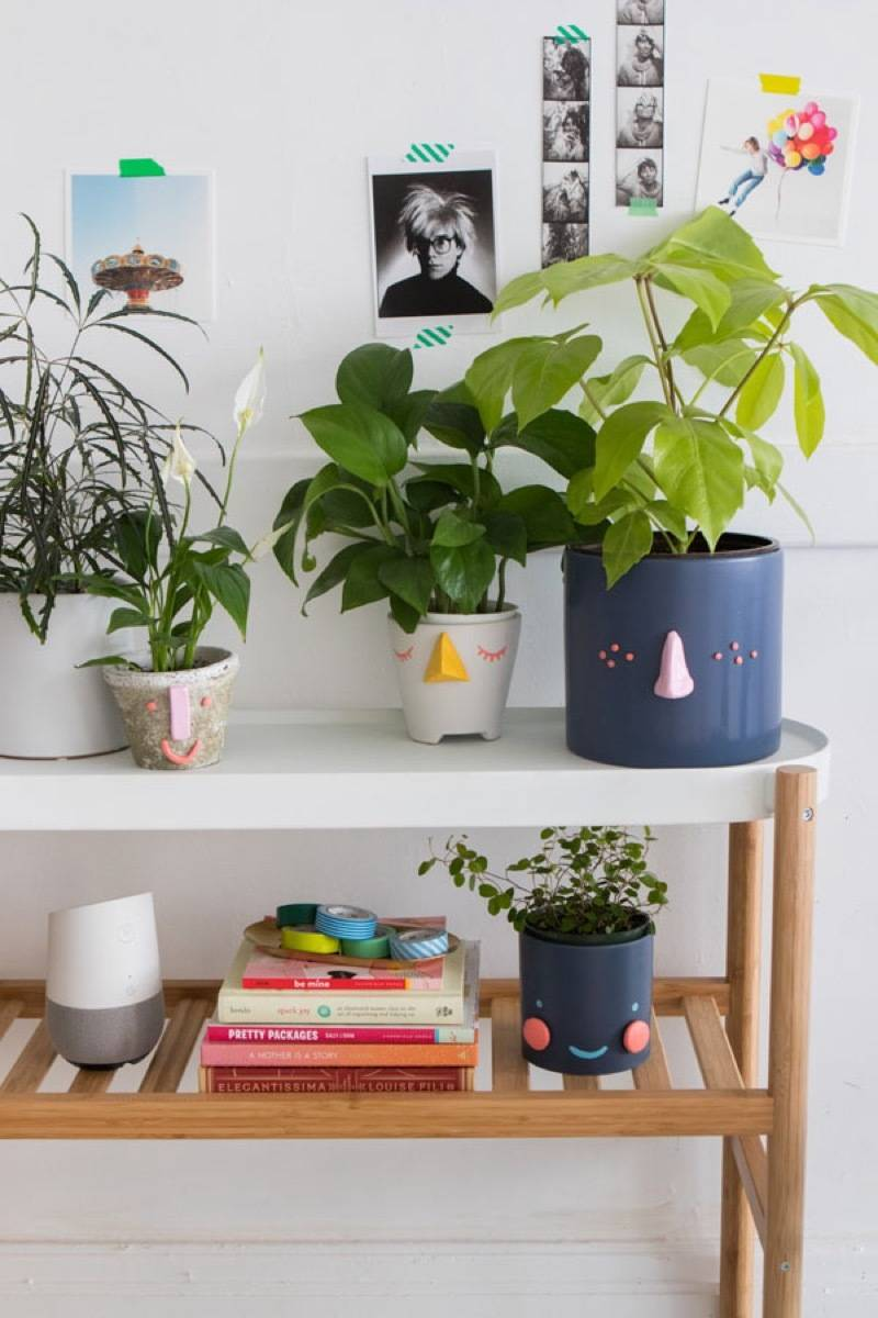DIY Mother's Day Gift Ideas: Happy-faced planters