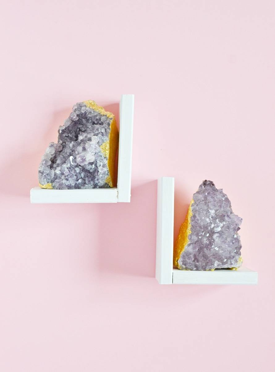 DIY Mother's Day Gift Ideas: Amethyst bookends