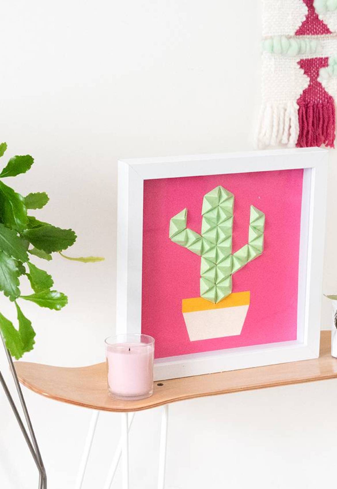 Make this: Easy DIY origami wall art in under half an hour!
