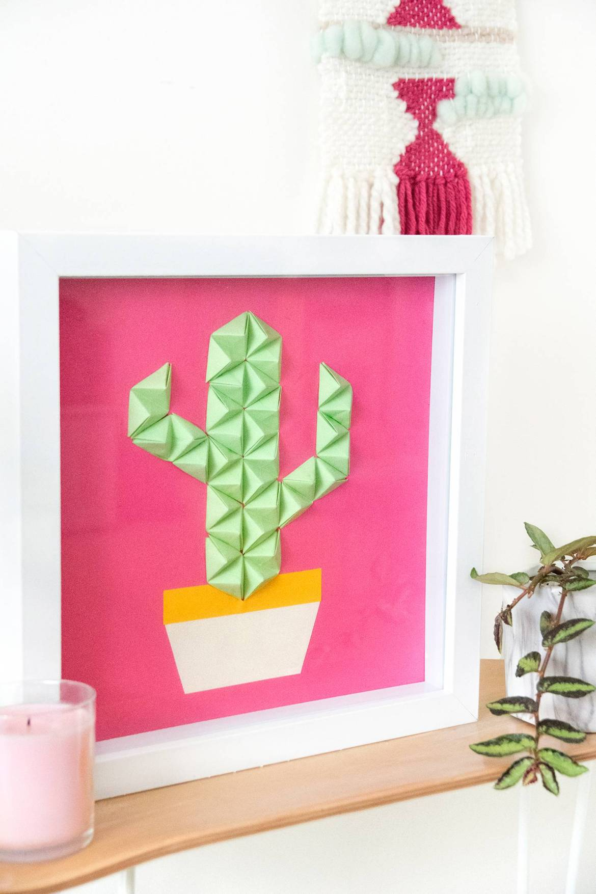 Make this - Easy DIY origami wall art in under half an hour!