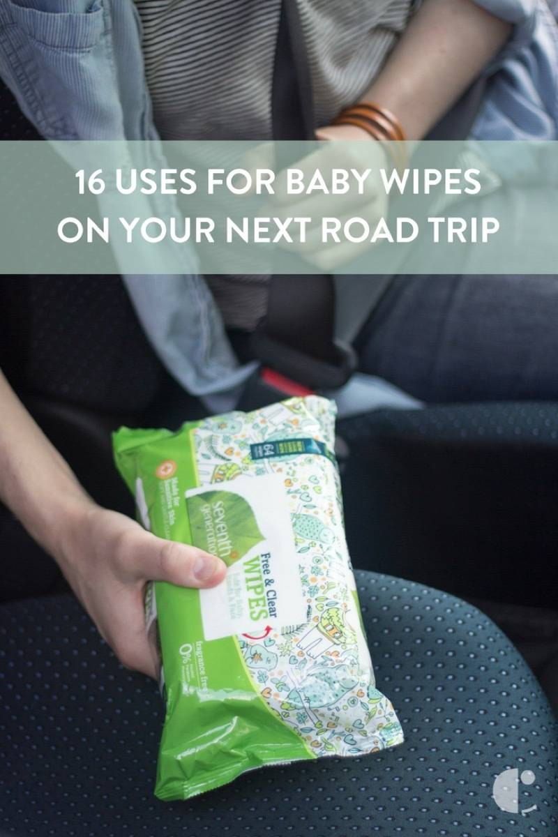 A pack of baby wipes in the car