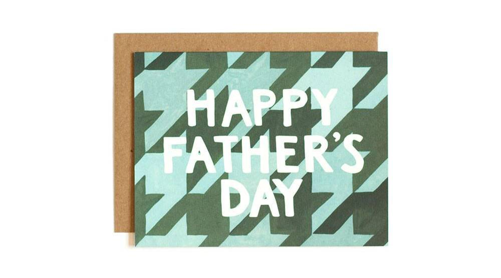 Father's Day Pattern Father's Day card