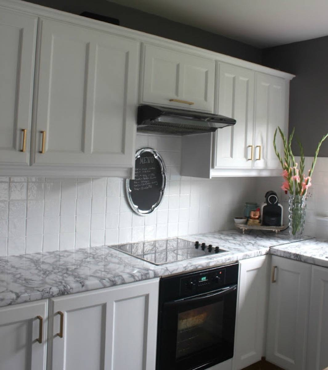 Contact paper on countertops