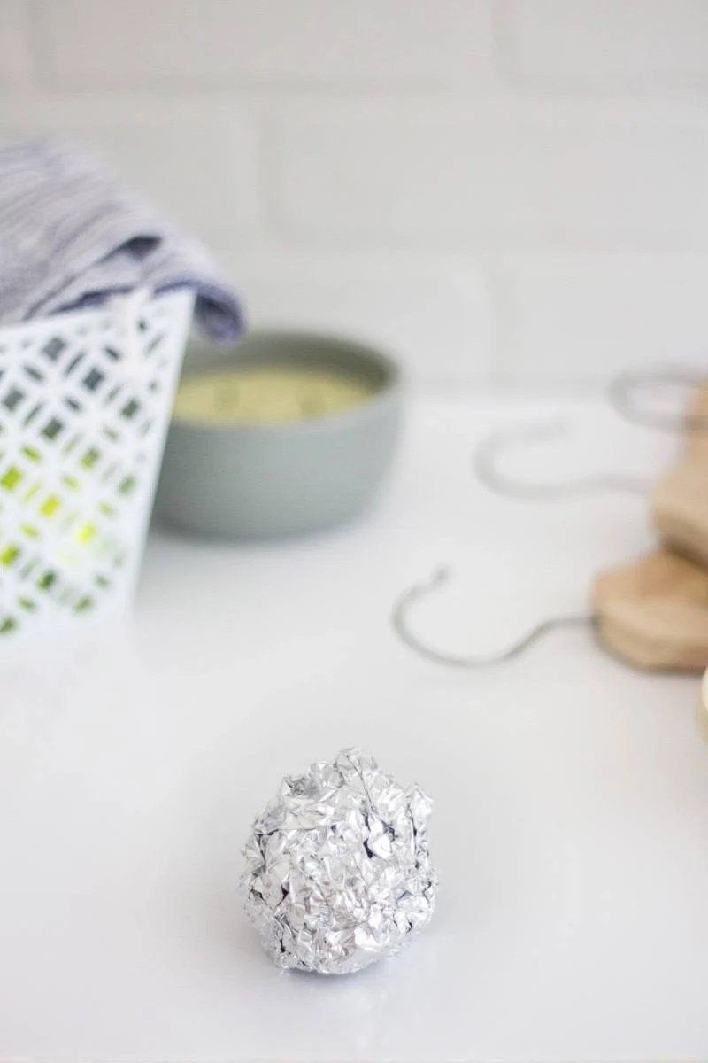 Balled up aluminum foil can replace dryer sheets in the dryer