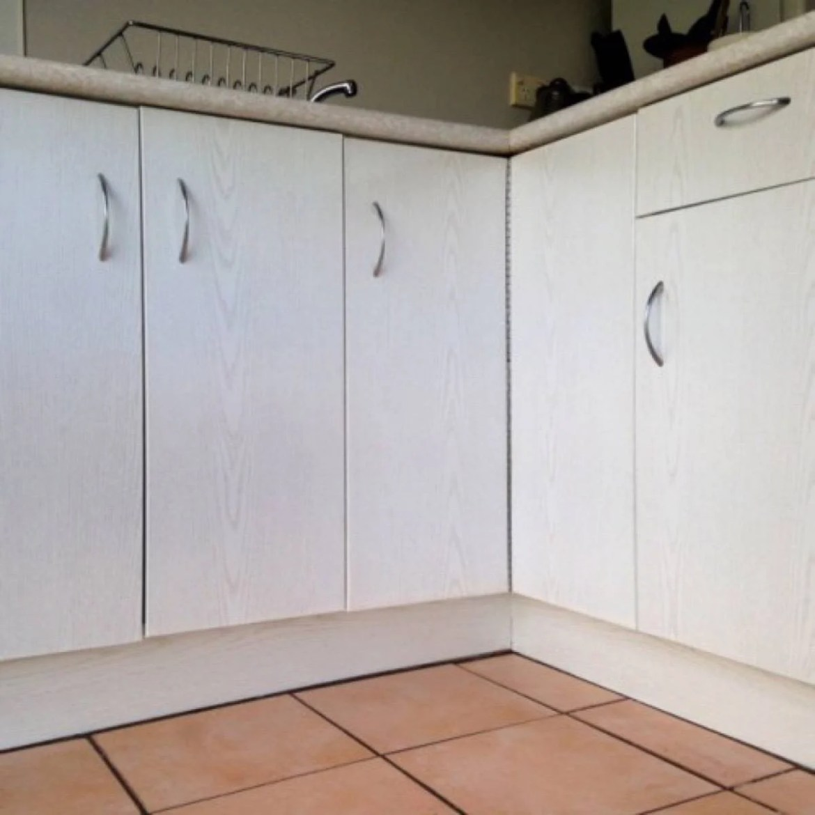 Vinyl-wrapped cupboards
