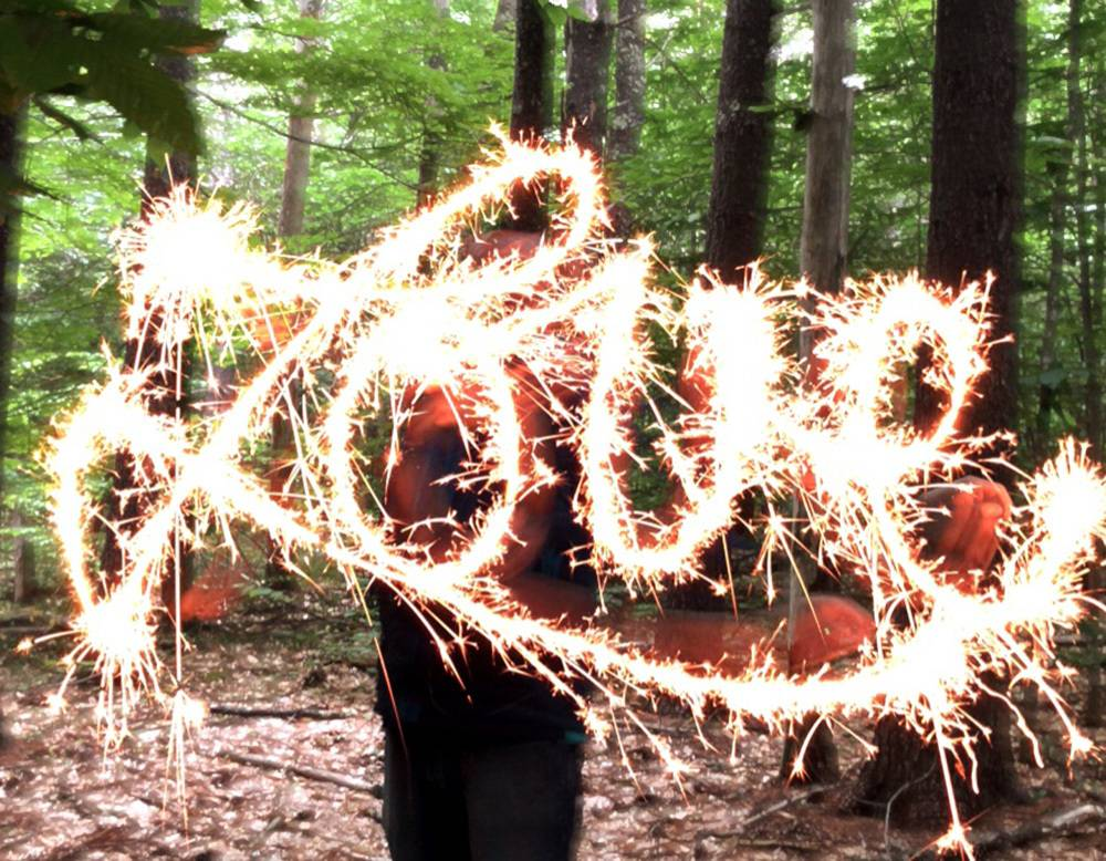 Sparkler pictures - writing with light