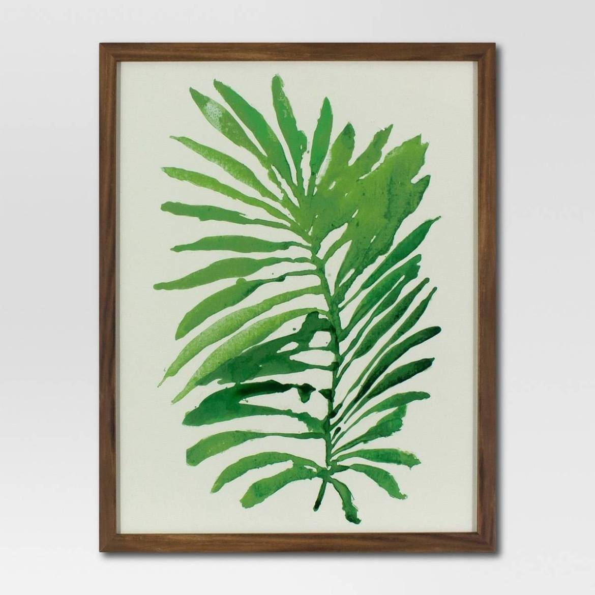 Watercolor palm leaf from Target