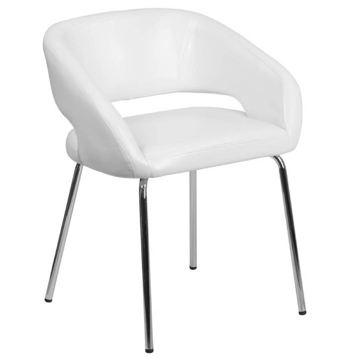 Contemporary leather side chair from The Home Depot
