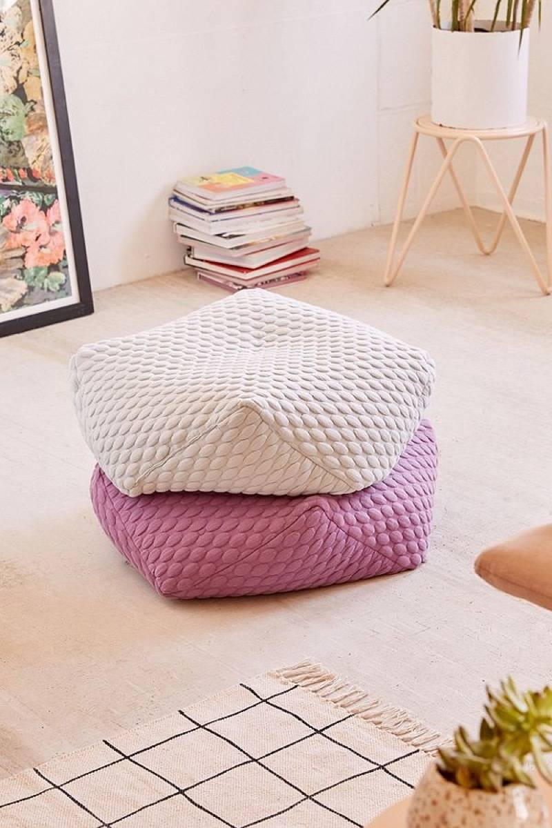 Affordable furniture and home decor items - Marshmallow hexagon floor pillows from UO