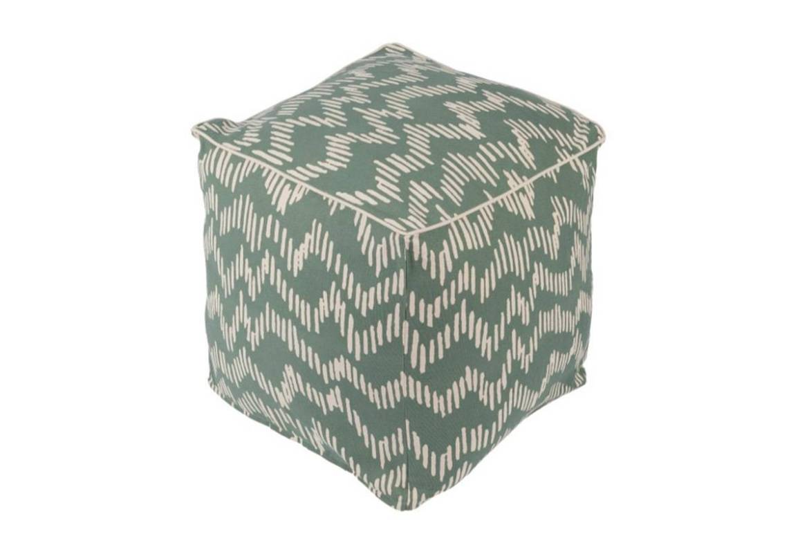 Somerset green pouf from Living Spaces