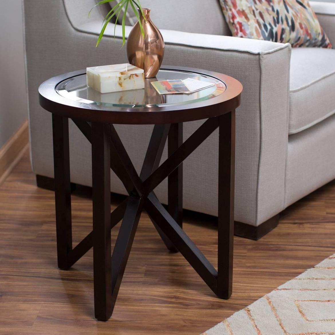 Webster round end table from Hayneedle