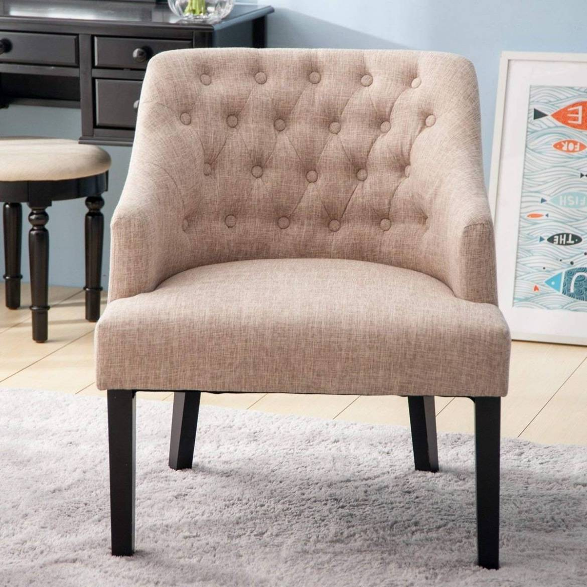 Contemporary accent chair from Amazon
