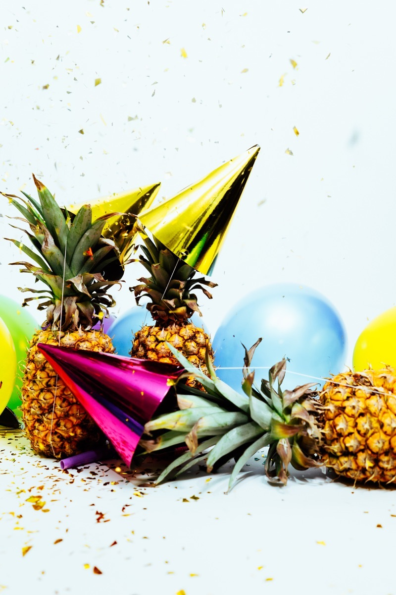 Pineapples and party supplies