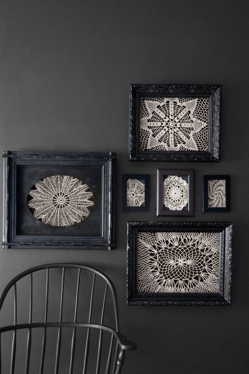 Framed lace doilies
