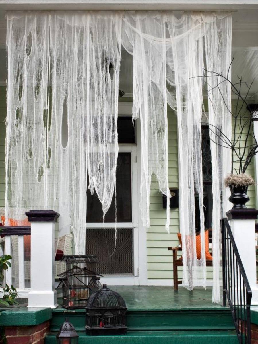 Cheesecloth drapes