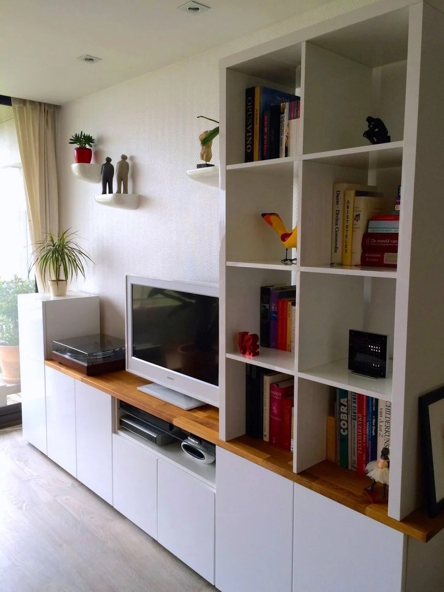 ikea entertainment center ideas to elevate your home decor [ 900 x 1200 Pixel ]