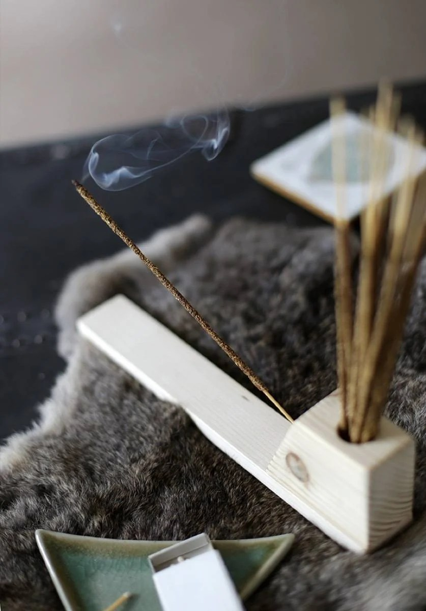 The Merrythought wooden incense holder