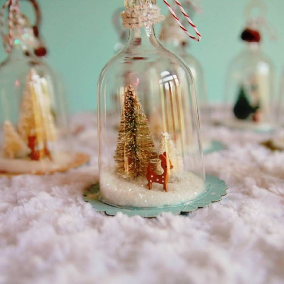 Adorable bell glass ornament