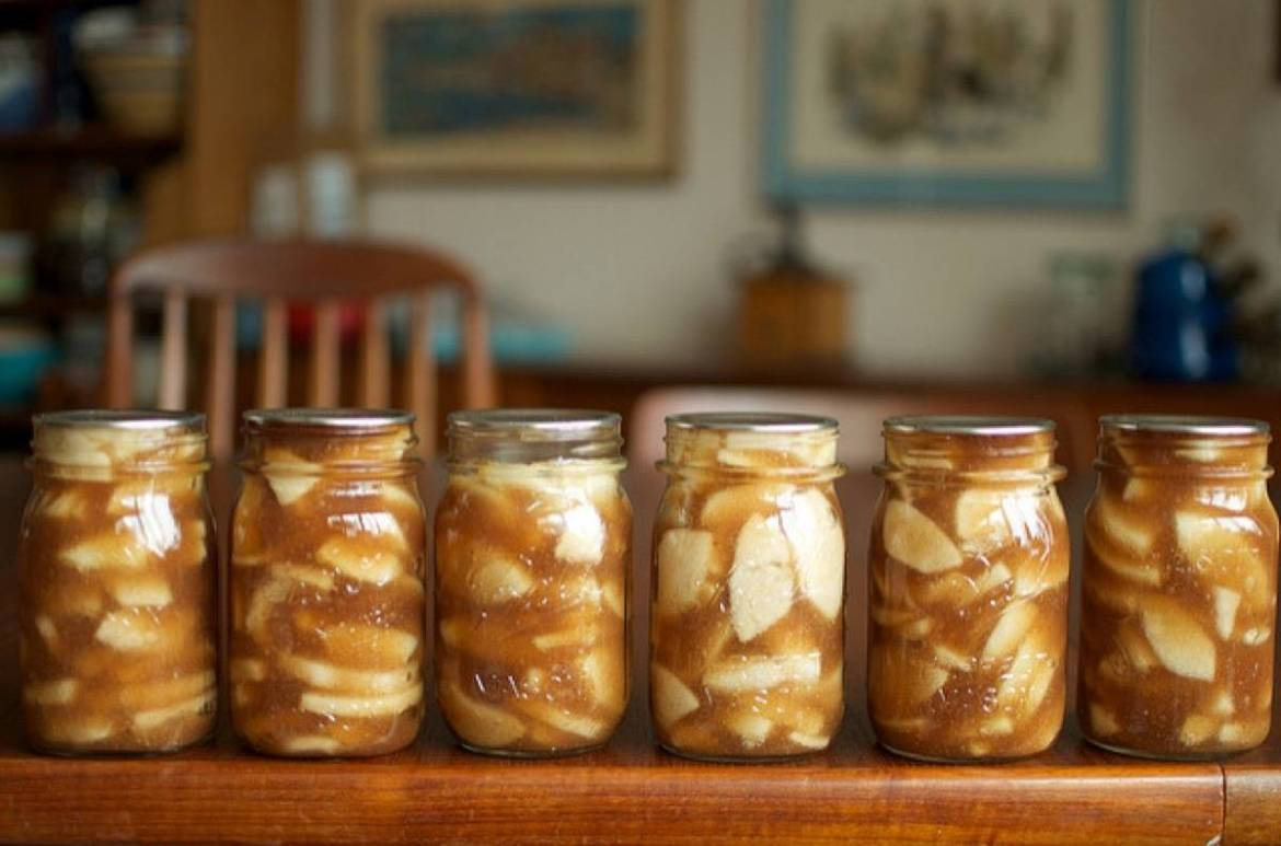 Spiced apple pie filling