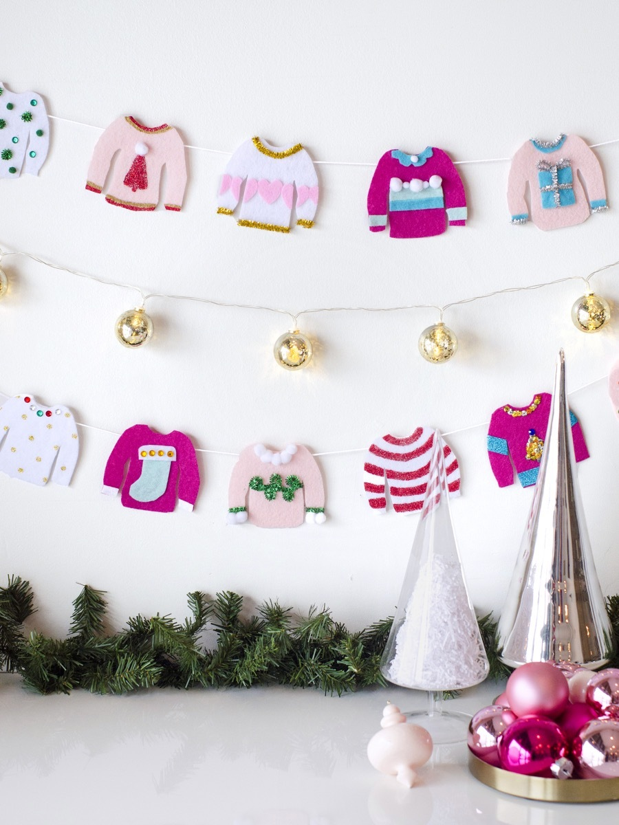 Ugly sweater garland